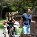 Jessica Alba takes her daughters Honor and Haven to the park with husband Cash Warren