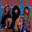 Kasey Smith, Ted Poley, Bruno Ravel, Steve West, Andy Timmons - Music Life Magazine Cover [Japan] (August 1991)