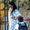 Nicole Scherzinger – On a photoshoot on the beach in Mykonos
