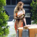 Bella Thorne in Orange Top out in Los Angeles