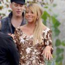 "Mariah Carey are seen arriving on the set of ""American Idol"" in Los Angeles"
