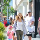 Jessica Alba and Her Family Enjoy a Day Out in Beverly Hills - 450 x 600