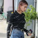 Hailey Baldwin in Jeans at Joan's on Third in Los Angeles - 454 x 681
