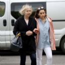 Emilia Clarke with her mother out in London - 454 x 465