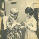 Myron Floren, Jo Ann Castle & Natalie Nevins Back Stage at The Lawrence Welk Show - 454 x 447