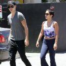Vanessa Hudgens with Austin Butler at Studio Cafe in Studio City, CA (July 14)