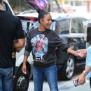 Christina Milian – Outside her Beignet Box truck in Studio City