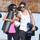 Colin Farrell & His Sister Claudine Hit Up A Yoga Class - 454 x 508