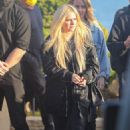 Avril Lavigne – Seen without Mod Sun at Nobu in Malibu