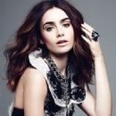 Lily Collins amp'ed up promotions by covering the September 2013 issue of ELLE Canada