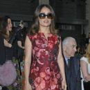 Salma Hayek Giamba Parterre Fashion Show In Milan