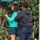 Lea Michele on set of 'Untitled City Mayor Project' in Los Angeles - 454 x 681