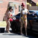 Jemma Lucy and Laura Alicia Summers in Bikini – Car Washing in Manchester - 454 x 419