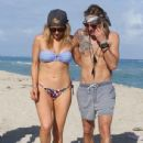 Ellie Goulding with boyfriend Dougie Poynter on Miami Beach January 5,2015 - 436 x 594