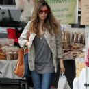Jessica Biel out at the Farmers Market in LA (July 28)