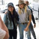 Miley Cyrus in Jeans Arriving in New York City