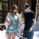 Cindy Crawford and Rande Gerber on the pool in Miami