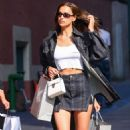Irina Shayk – Out shopping in NYC
