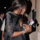 Naomi Campbell Leaving A London Restaurant, April 14 2008