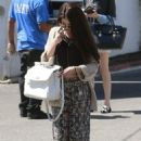 Selena Gomez stops for lunch at Kabuki with a friend on June 10, 2013 in Encino, California - 454 x 663