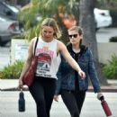Kate Mara and Kristen Bell – Hit the gym together in Los Felize - 454 x 520