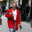 Hilary Duff – Arriving with her puppy to the set of 'Younger' in New York - 454 x 831