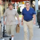 Ryan O'Neal and his son Redmond seen leaving a restaurant after lunch in Brentwood, California on December 27, 2013 - 454 x 538