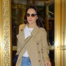 Michelle Dockery – Heading to the Live with Kelly and Ryan in NYC