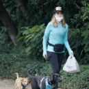 Courtney Thorne-Smith – Out for a dog walk in Brentwood - 454 x 594