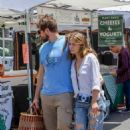 Bethany Joy Lenz with boyfriend at the farmers market in Los Angeles - 454 x 681