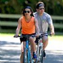 Lea Michele – Bike Riding in The Hamptons