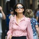 Katie Holmes – Leaves the Paramount offices in NYC