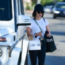 Lucy Hale – Visiting The NOW Massage Studio in Studio City