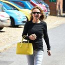 Geri Halliwell – In Jeans Out And About In Yattendon - 454 x 783