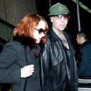 Goth Singer Marilyn Manson And His Girlfriend Lindsay Usich Arriving On A Flight At Lax Airport In Los Angeles - 416 x 594