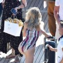 Josie Marie Canseco in Bikini and Swimsuit on a boat in Portofino