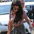 Selena Gomez Walking Into A Sound Studio In La