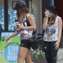 Vanessa Hudgens and her sister Stella heading to pilates in Studio City, CA (September 20)