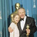 Jodie Foster and Anthony Hopkins At The 64th Annual Academy Awards (1992) - Press Room - 236 x 355