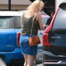 Busy Philipps in Denim Skirt – Out in Santa Monica - 454 x 681