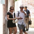 Kate Winslet and her husband Ned Rocknroll out in Venice - 454 x 627