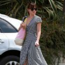 Dakota Johnson – In a summer dress out in Los Angeles