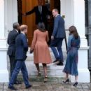 Prince William, Duchess Catherine and Harry dine with President Obama - 454 x 311