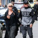 Singer Pink and her husband Carey Hart out shopping in New York City, New York on April 27, 2014 - 408 x 594