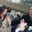Meeting fans in London