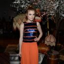 Actress Skyler Samuels attends the alice + olivia by Stacey Bendet and Neiman Marcus present See-Now-Buy-Now Runway Show at NeueHouse Los Angeles on April 13, 2016 in Hollywood, California - 411 x 600