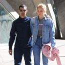 Sophie Turnerwith Joe Jonas out in East Village