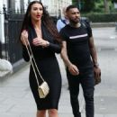 Alice Goodwin in Black Ttight Dress – Eexits 'Celebs Go Dating' with Jermaine Pennant in London - 454 x 666