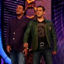 Salman Khan and Sanjay Dutt hosting Bigg Boss Season 5 2011 November 18 - 454 x 544