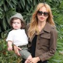 Rachel Zoe: out for lunch with her son in West Hollywood